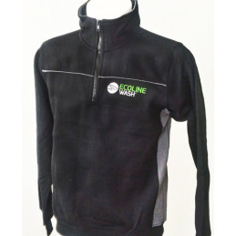 Black and grey half-zip fleece